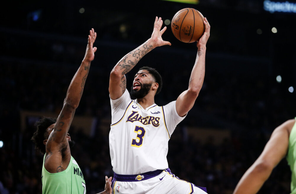 50 punkti visanud Anthony Davis tõstis Lakersi NBA liidriks