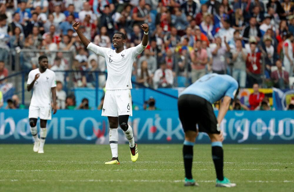 BLOGI | Prantsusmaa alistas väravavahi eksimuse läbi Uruguay ja jõudis esimesena poolfinaali
