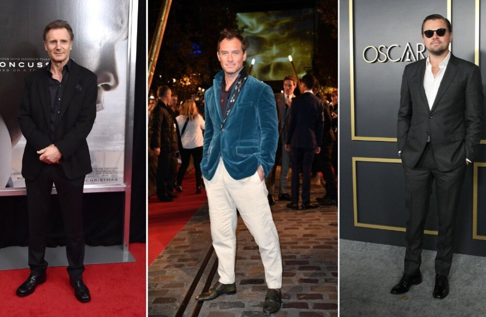 """Väikseima ja suurima """"varustusega"""" staarid teada: Jude Law'l ja Leonardo DiCapriol pole mõtet uhkustada, aga Liam Neesonil küll"""