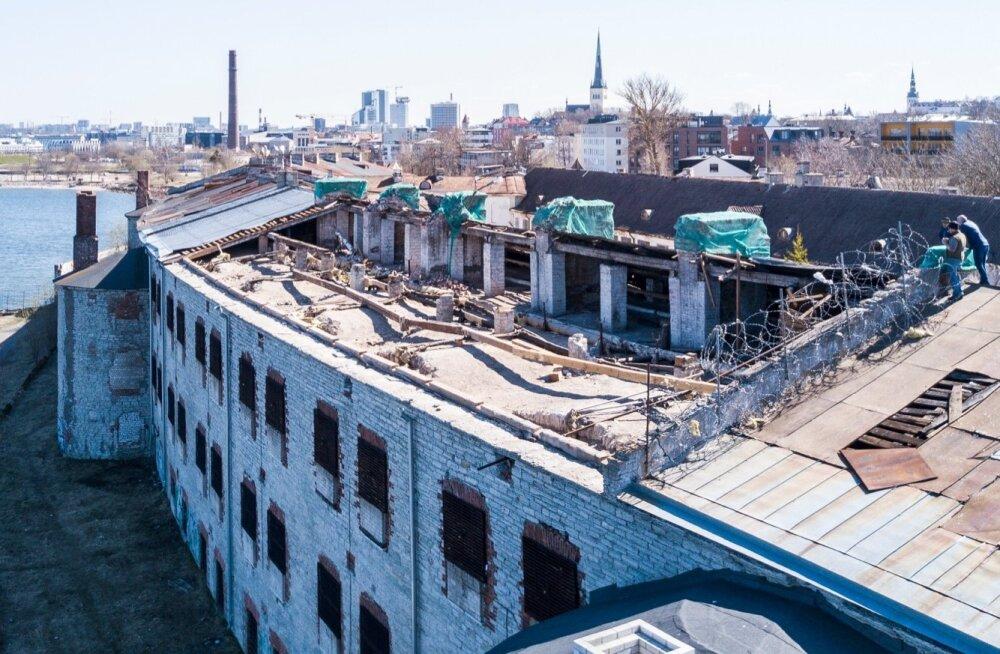 Patarei vangla ära lennanud katus