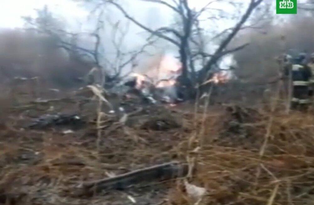 В Хабаровске на улице рухнул вертолет: есть погибшие