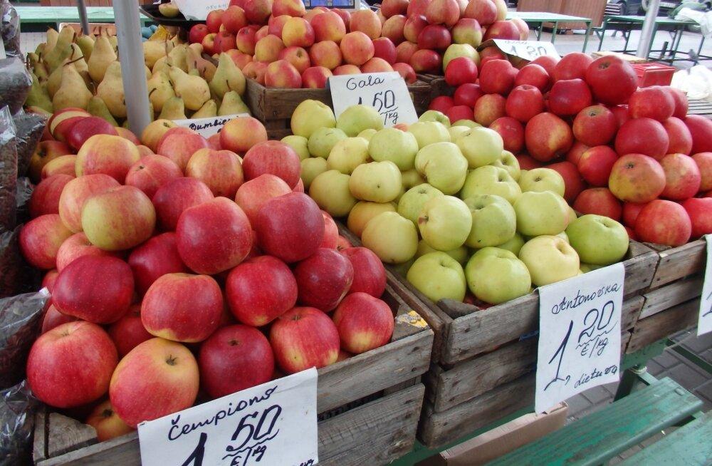 Läti poodidest võib uuest aastast osta kümnendiku võrra odavamaks muutuvaid juur- ja puuvilju