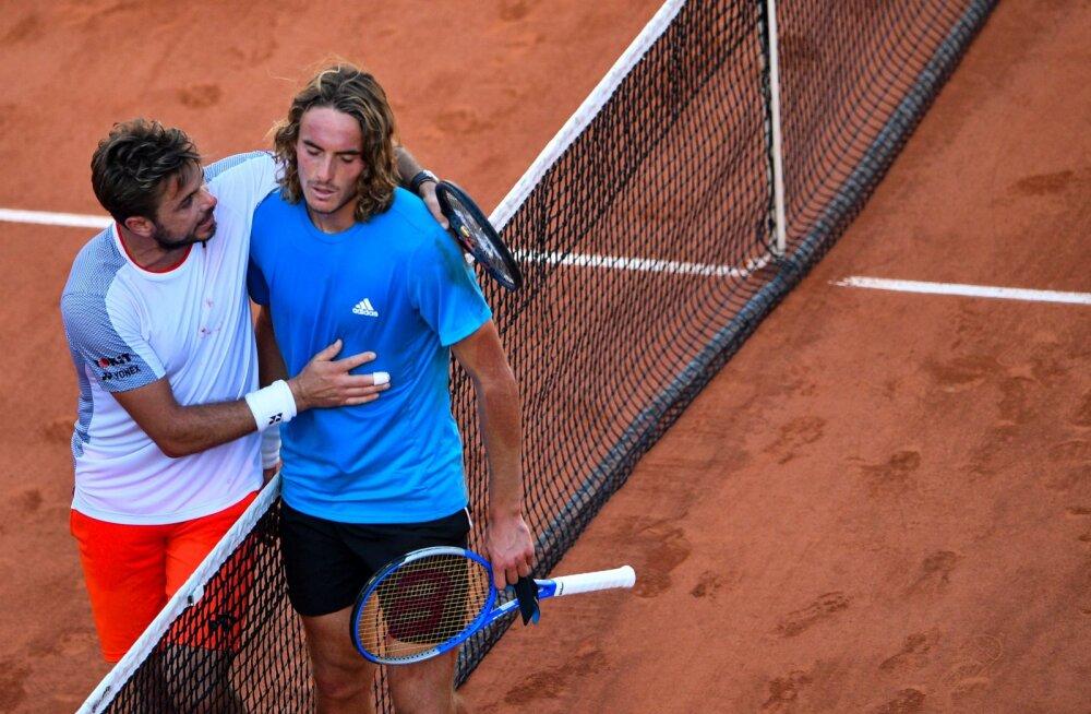 VIDEO | Raismaga koos Wimbledoni võitnud Stefanos Tsitsipas kaotas French Openi 1/8-finaalis ulmelise maratonlahingu