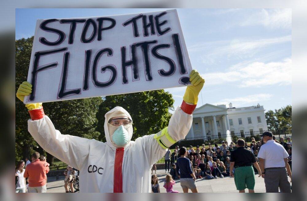 Ebola kartuses suletakse riigipiire ja lennuliine