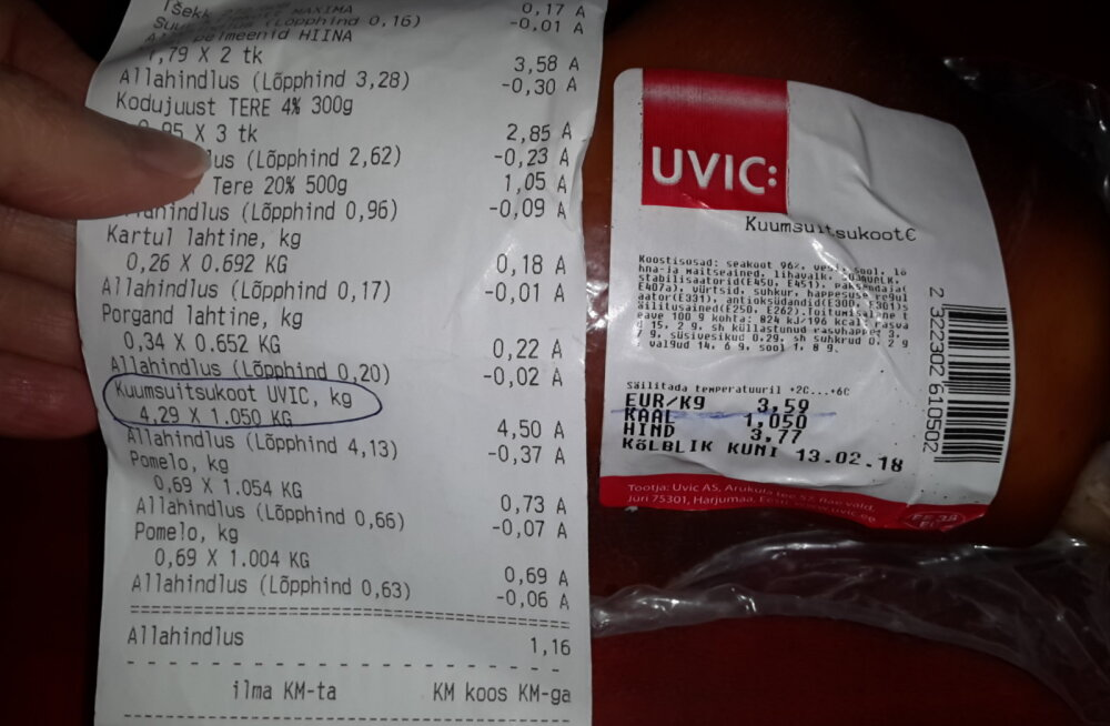 FOTO | Lugeja: Maximas vassitakse hindadega! Lihtsa liigutusega peteti minult pea 1 euro välja!