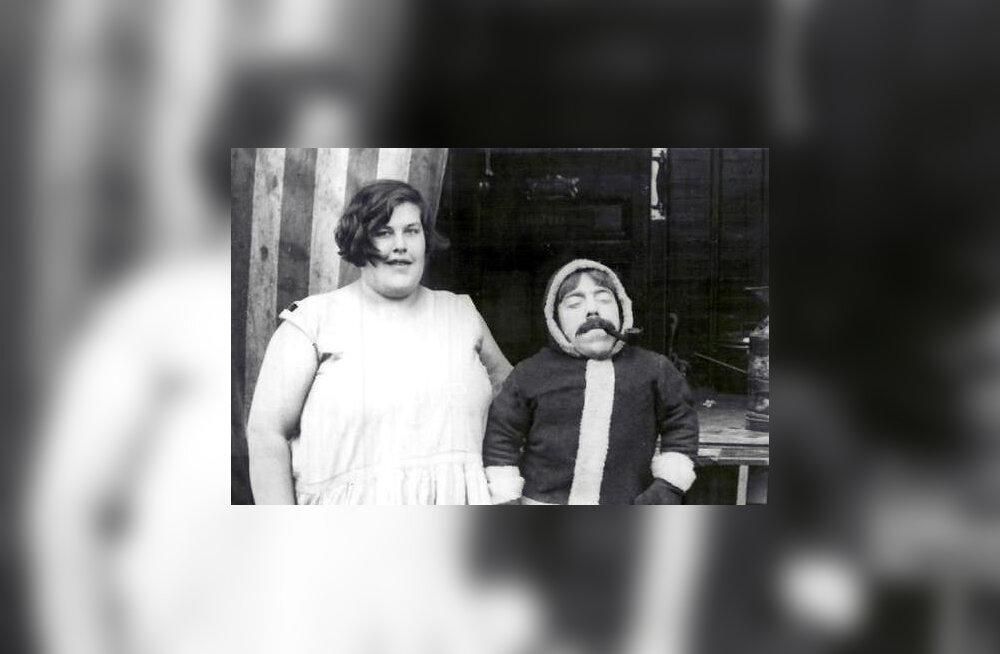 FOTO: 1928. aastal kõige suuremaks naiseks tituleeritud Titania ja väikseimaks meheks nimetatud Karo kahvatuksid praeguste rekordiomanike kõrval!