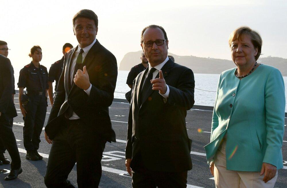 Saksa, Prantsuse ja Itaalia liidrid: Euroopa peab piirid kontrolli alla saama