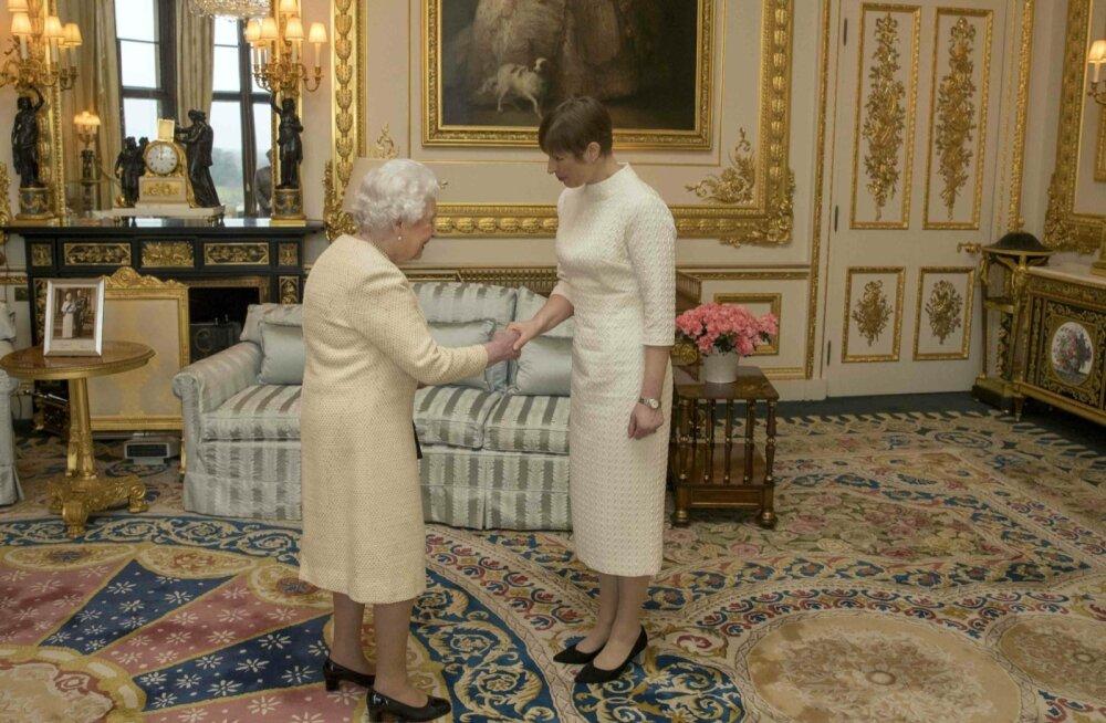 President Kersti Kaljulaid kohtumas kuninganna Elisabeth II-ga.