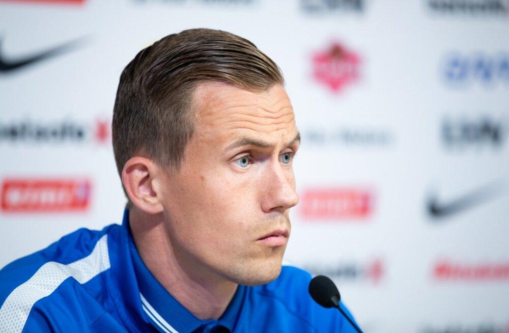Eesti jalgpallikoondise pressikonverents A. Le Coq Arenal