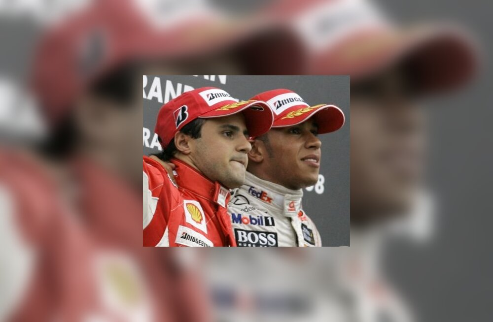 Felipe Massa ja Lewis Hamilton