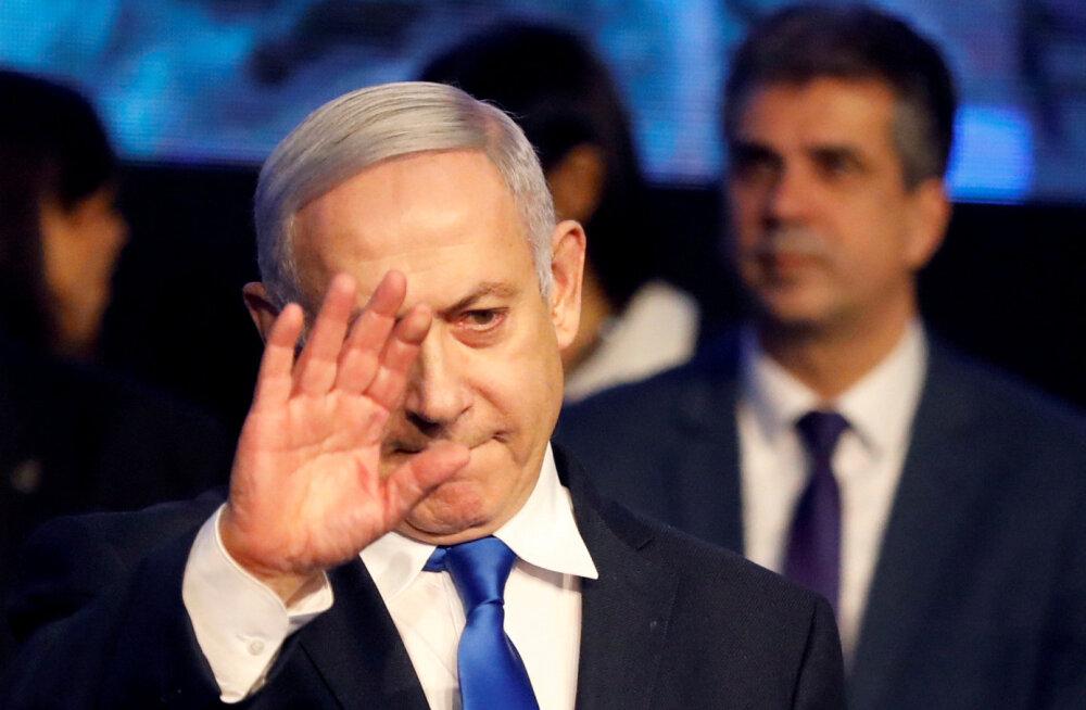 Iisraeli peaminister Netanyahu kuulutas end erakonna Likud juhi valimiste võitjaks