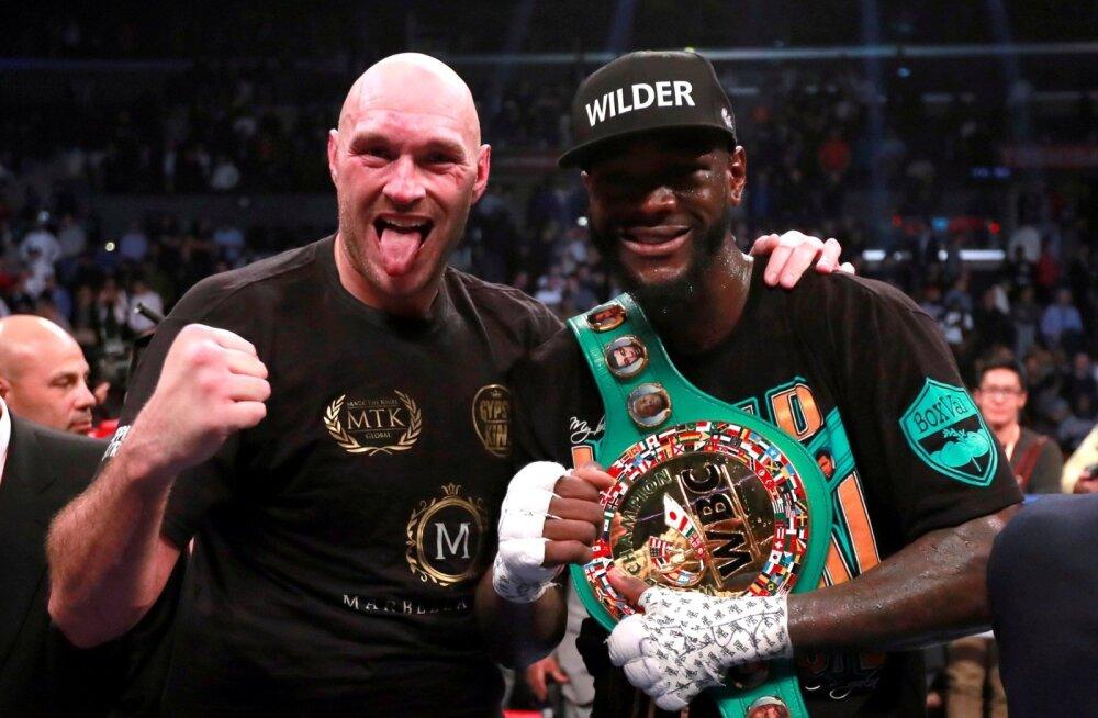 Tyson Fury ja Deontay Wilder.