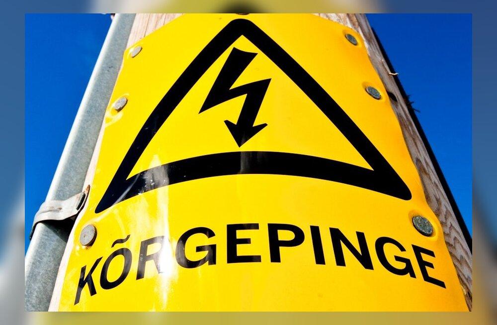 TABEL: Elektri hind börsil langes maikuus 10 protsenti