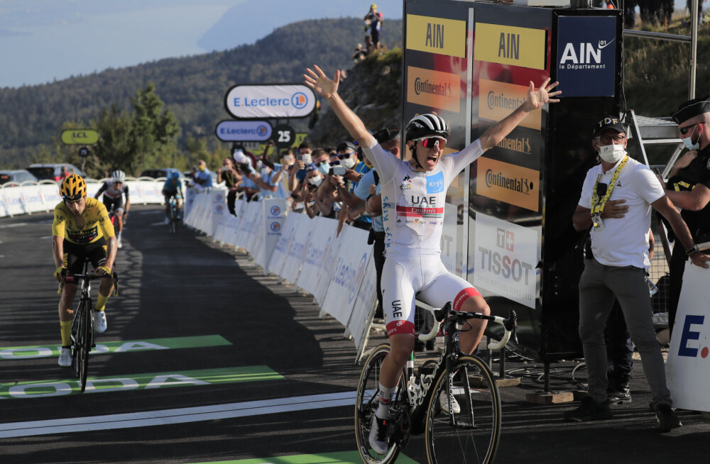 Sloveeniale Tour de France'i 15. etapil kaksikvõit, Bernal langes esikohakonkurentsist