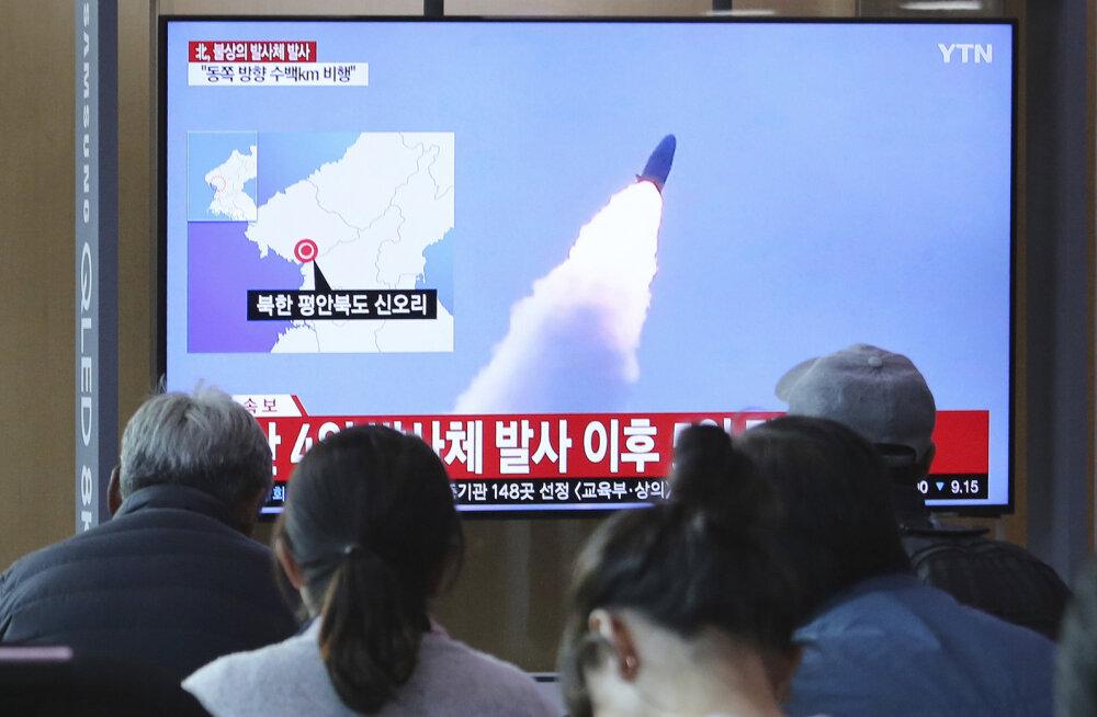 Lõuna-Korea teatel lasi Põhja-Korea välja kaks lühimaaraketti