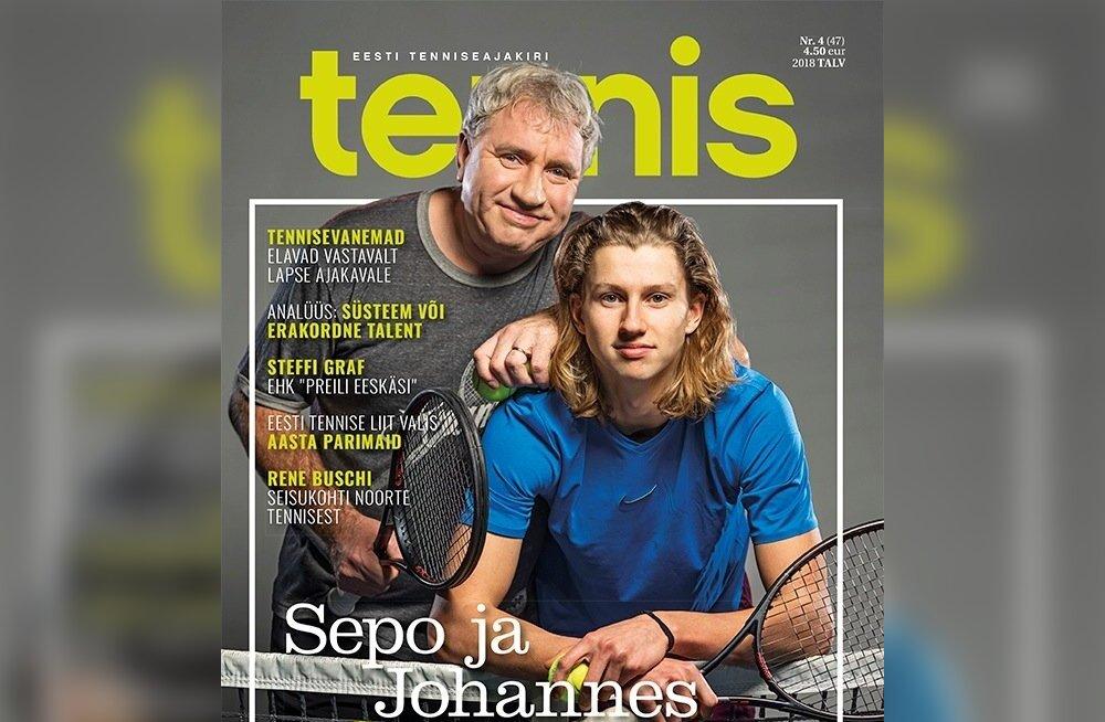 Ajakiri Tennis talvenumbri esikaas