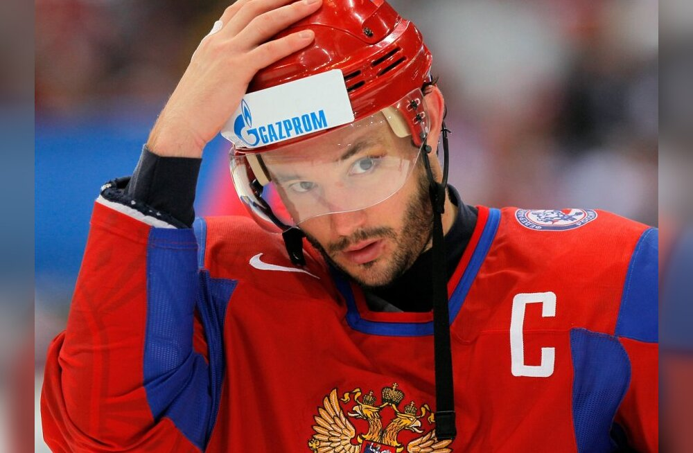 Russian forward Ilya Kovalchuk after the 2010 World Hockey Championship final match between Russia and Czech Republic.