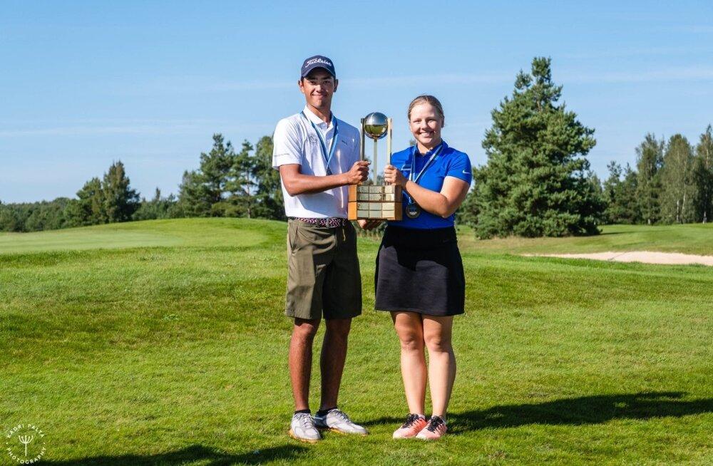 Eesti golfimeistrid: Joonas Juan Turba ja Anete Liis Adul