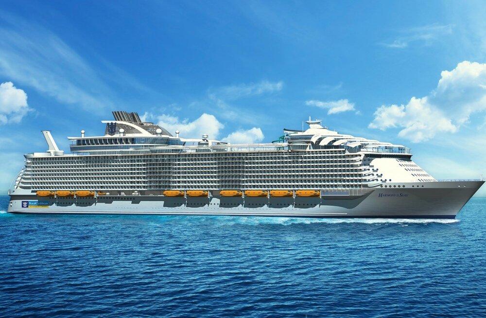 Maailma suurim reisilaev Harmony of the Seas saab 16 tekki ja valmib 2016. aasta aprilliks