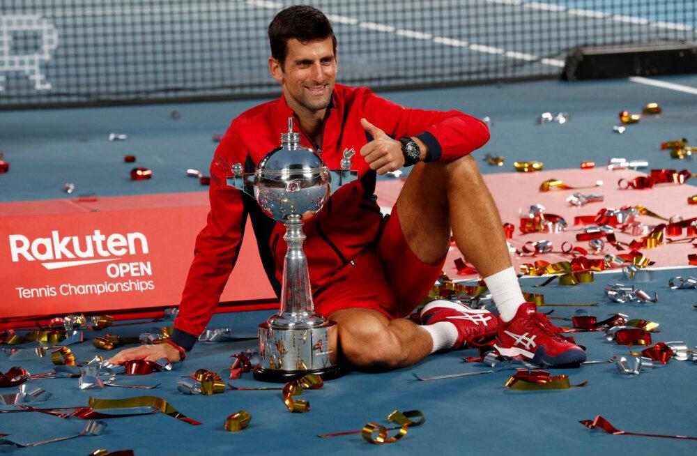 Djokovic võitis karjääri esimese Japan Openi mängleva kergusega
