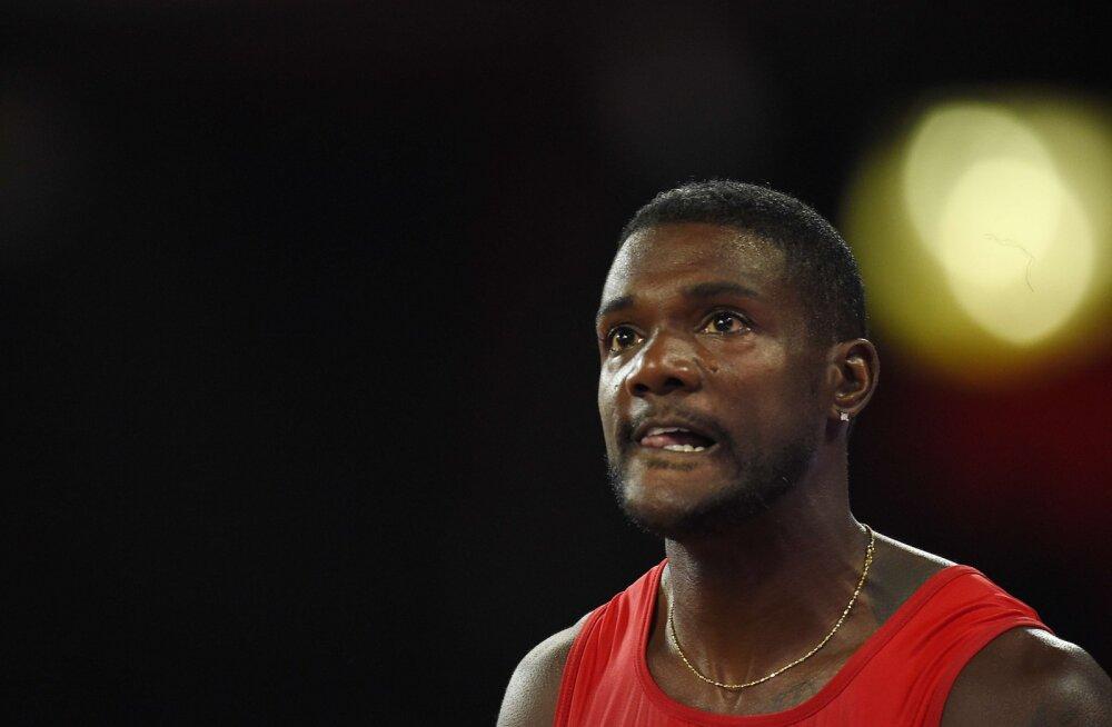 FOTOD: Gatlin näitas poolfinaalis võimu, Bolt pääses üle noatera