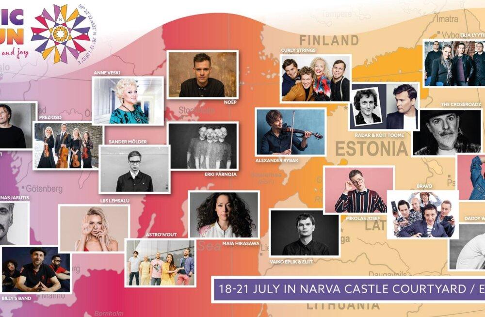 """Открытие фестиваля """"Baltic Sun"""" начнется с велопробега и прибытия роскошной яхты в порт Нарвы"""