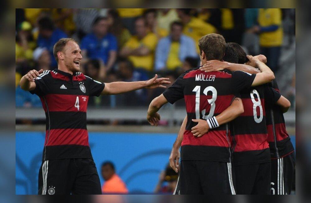 Jalgpalli MMi poolfinaal Saksamaa-Brasiilia