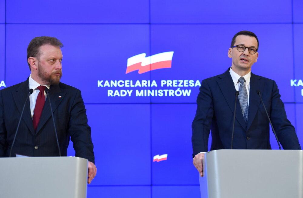 Poola keelas koroonaviiruse tõttu suured rahvakogunemised
