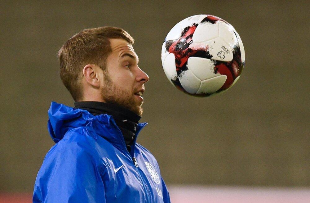 Sügisel koondisse tagasi murdnud Sergei Mošnikov päev enne eilset mängu Belgiaga