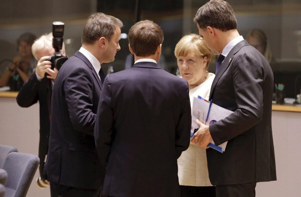 Merkel ja Macron ei jõudnud ülemkogul Junckeri järglase puhul üksmeelele