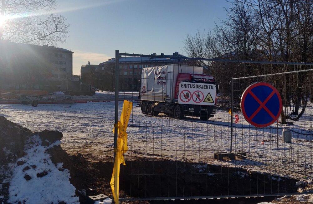 ФОТО: В Нарве начинается строительство первого в городе магазина Lidl
