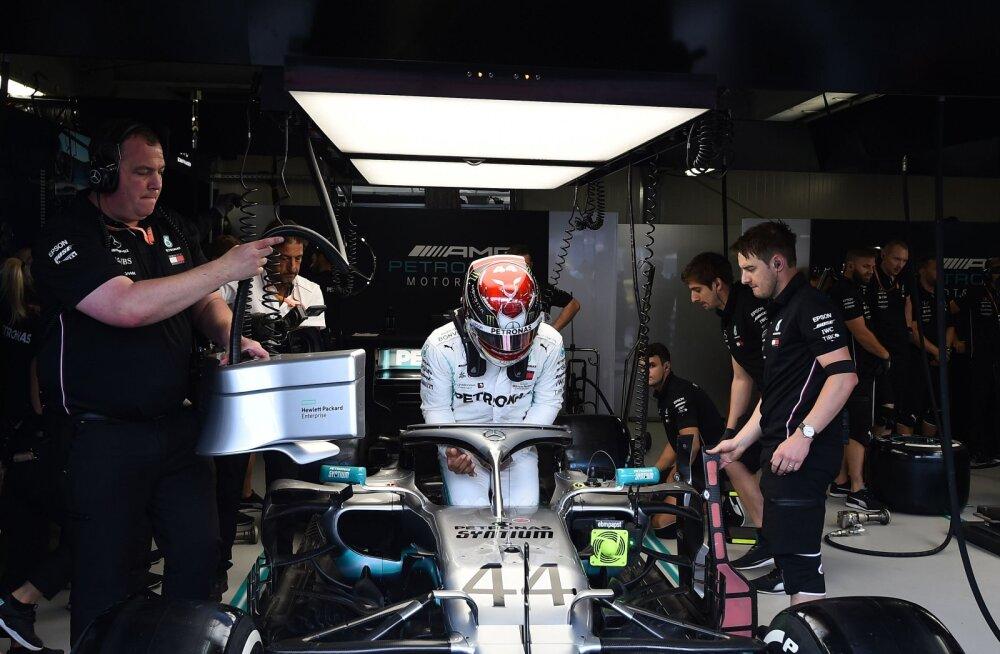 Monaco GP esimesel vabatreeningul näitas kiireimat aega Hamilton, Haasi sõitjatele lehvitati kummalisel põhjusel musta lippu