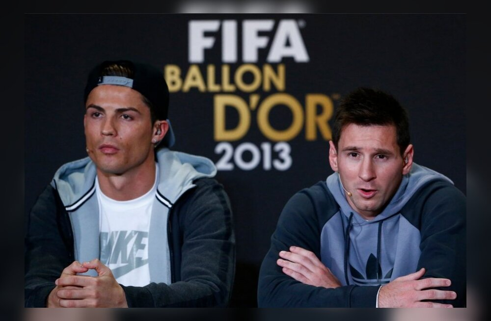 Cristiano Ronaldo ja Lionel MessiSOCCER-AWARDS/