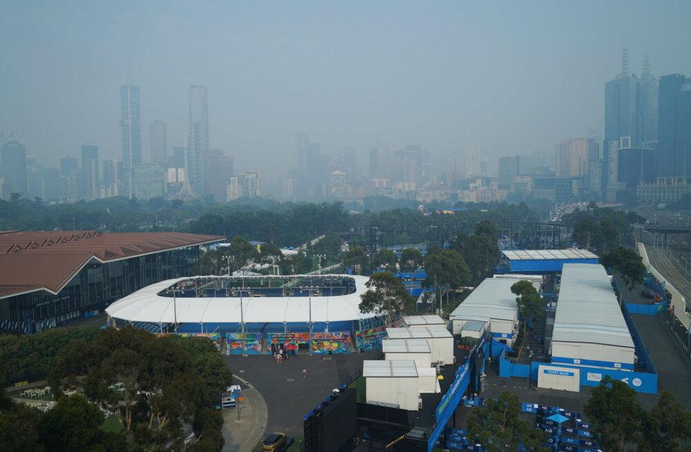 Australian Openi korraldajad panid paika, millise õhukvaliteedi juures mängud katki jäetakse