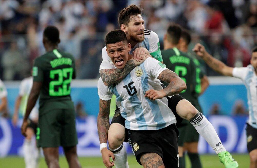 Tänu Marcos Rojo tabamusele elab veel Argentina ja Lionel Messi unistus MM-tiitlist.