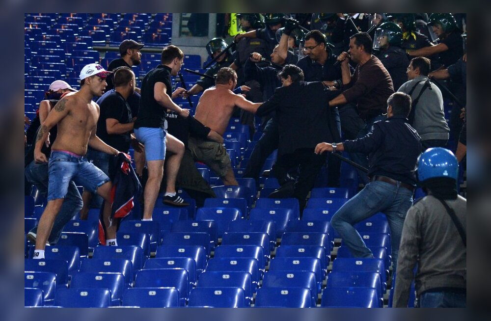 Moskva CSKA fännid Rooma olümpiastaadionil