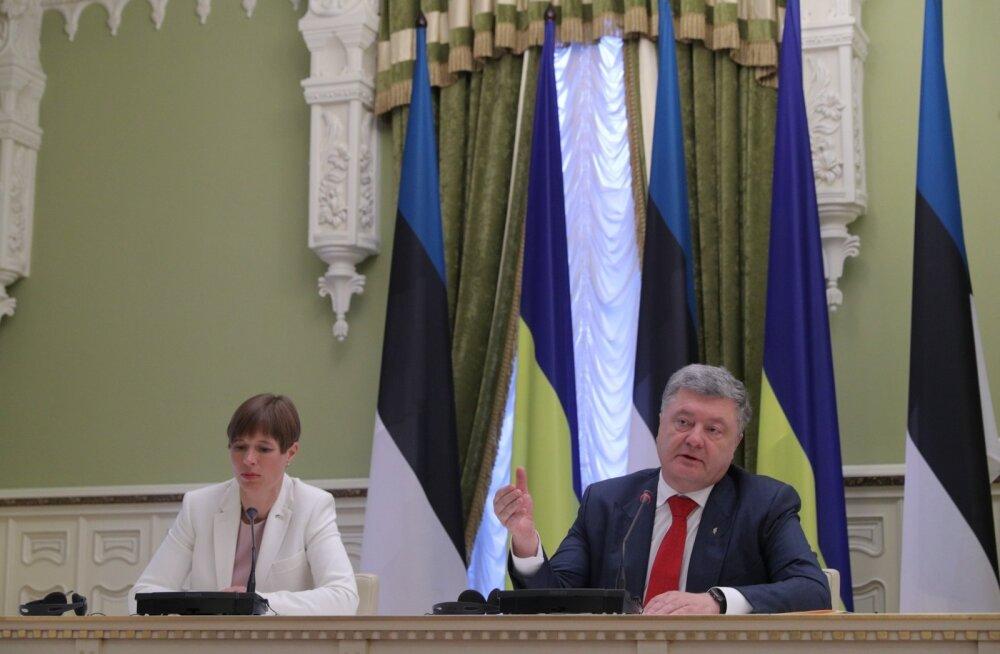 Kersti Kaljulaid, Petro Porošenko, pressikonverents, Ukraina, Kiiev