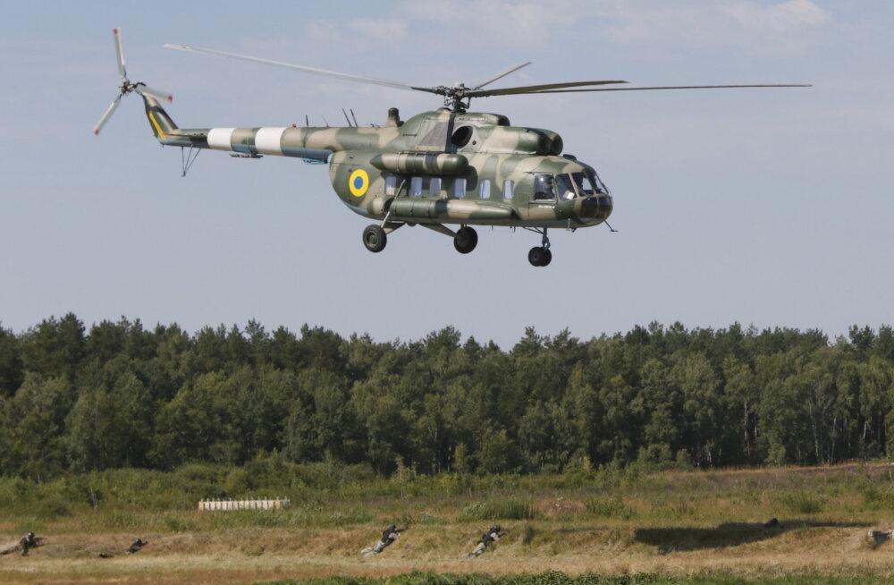 Ukrainas hukkus helikopteri allakukkumise tagajärjel neli sõjaväelast