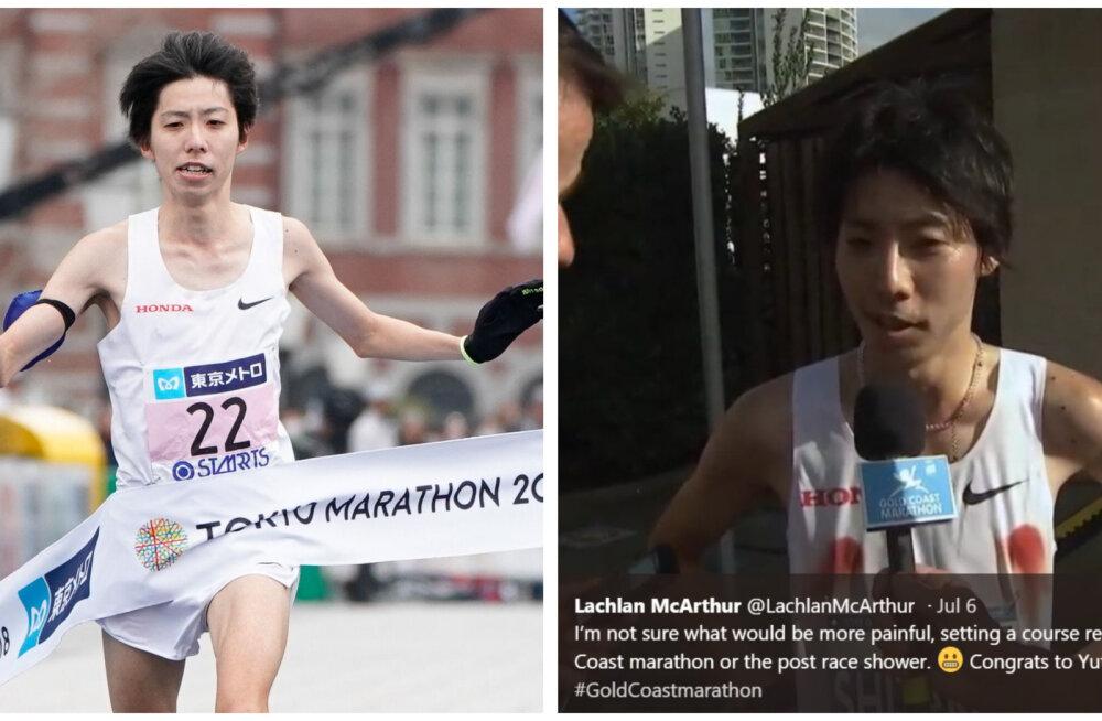 FOTO | Need punased rõngad polnudki Jaapani lipud! Selgus kohutav tõde rajarekordiga maratoni võitnud mehe nibude kohta