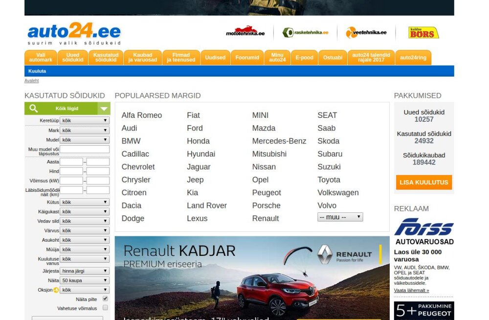 Auto24 müük tõi soomlastele kümme miljonit kasumit