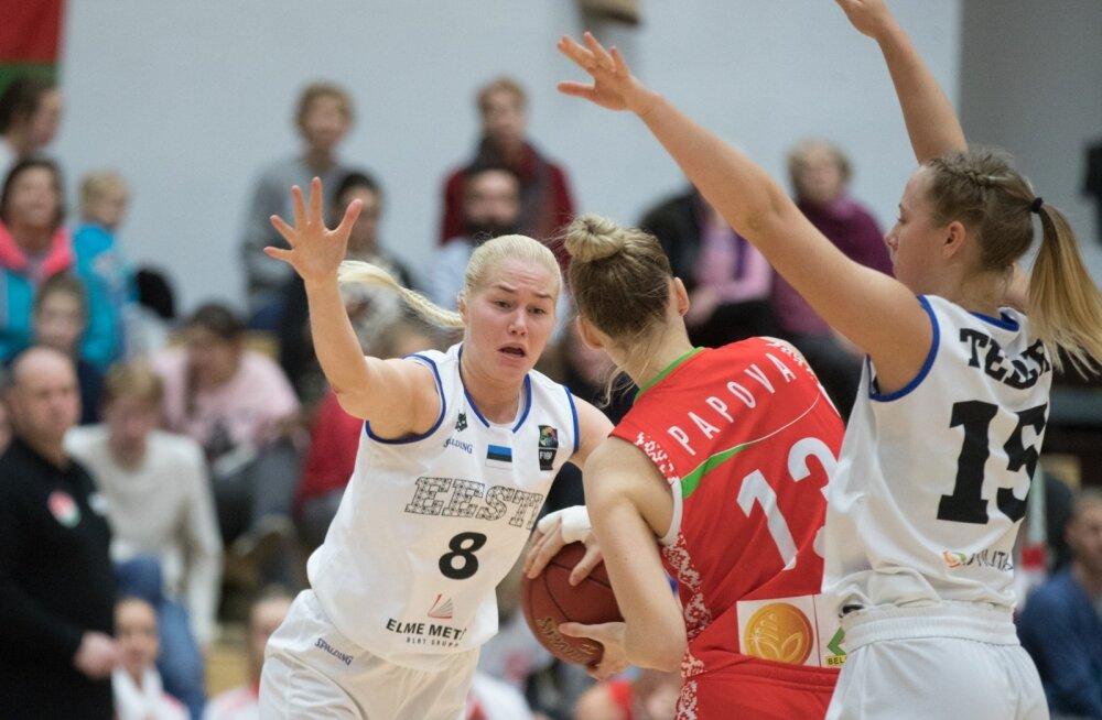 Annika Köster esindamas Eesti koondist