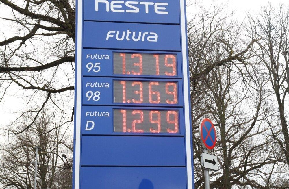 ФОТО: Последствия повышения акцизов: цены на заправках превысили 1,3 евро