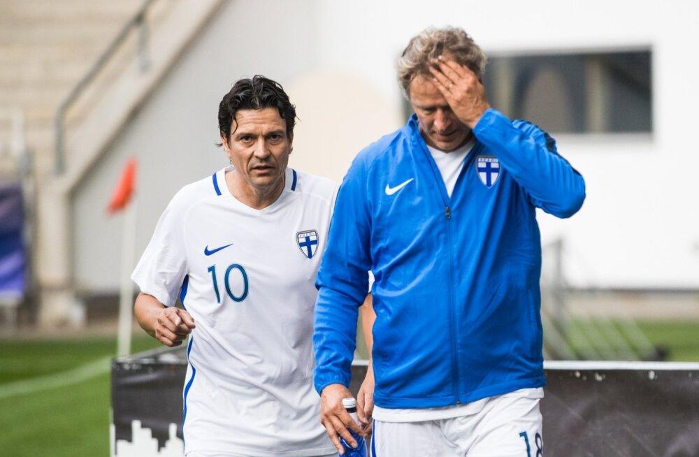Eesti ja Soome jalgpallilegendide matš