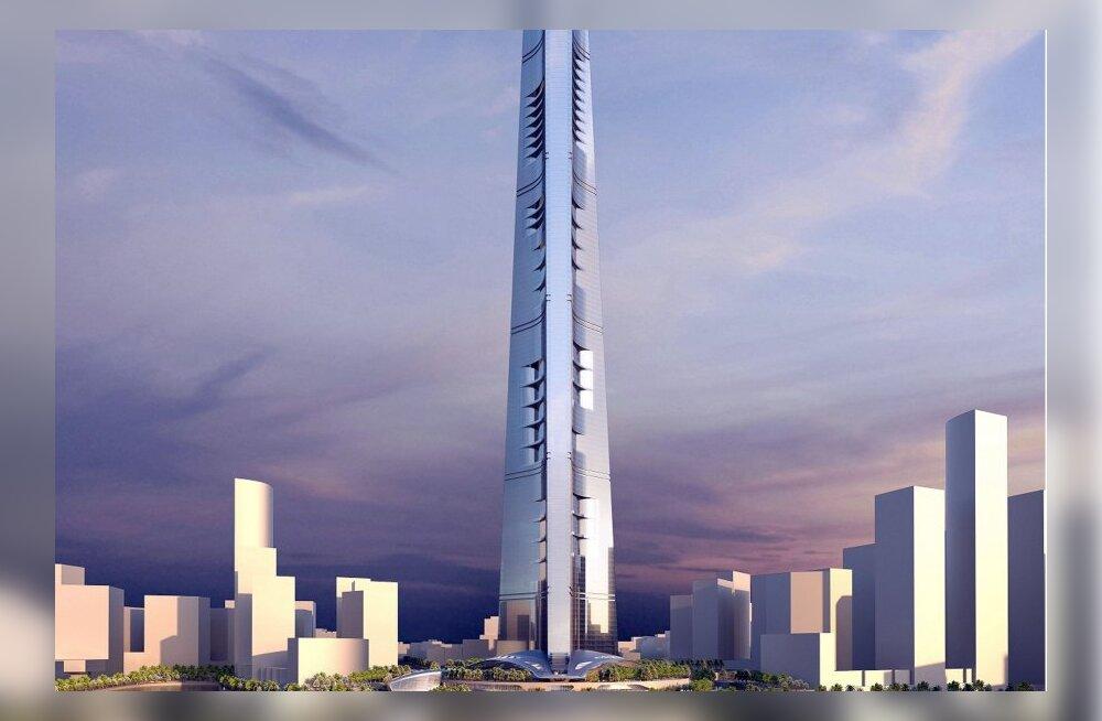 Kuningriigi torn - saudid ehitavad juba kilomeetrikõrgust pilvelõhkujat