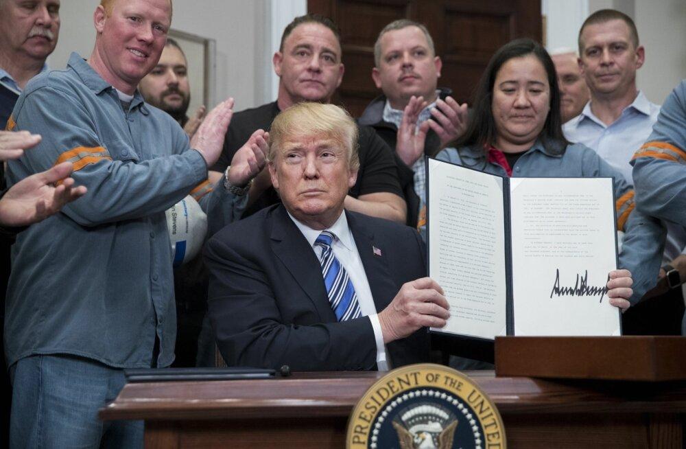 Trump liigub terase- ja alumiiniumitollidega edasi, erandi lubas ta teha Kanadale ja Mehhikole