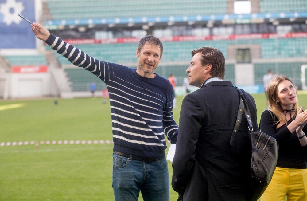 Eilse treeningu ajal täitis Dmitri Skiperski (vasakul) spordidirektori kohuseid.