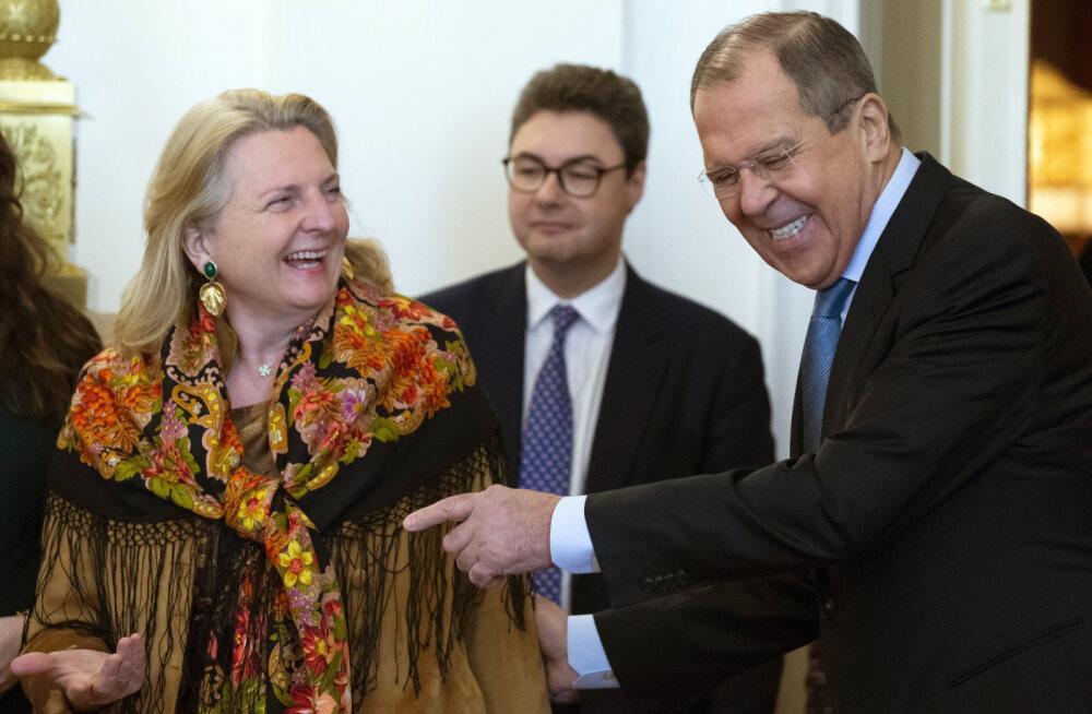 Austria ja Vene välisministrid demonstreerisid Moskvas spiooniskandaalist hoolimata erakordset teineteisemõistmist