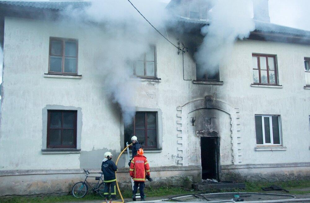 Tulekahju Saaremaal, Lääne-Saare vald, Aste alevik