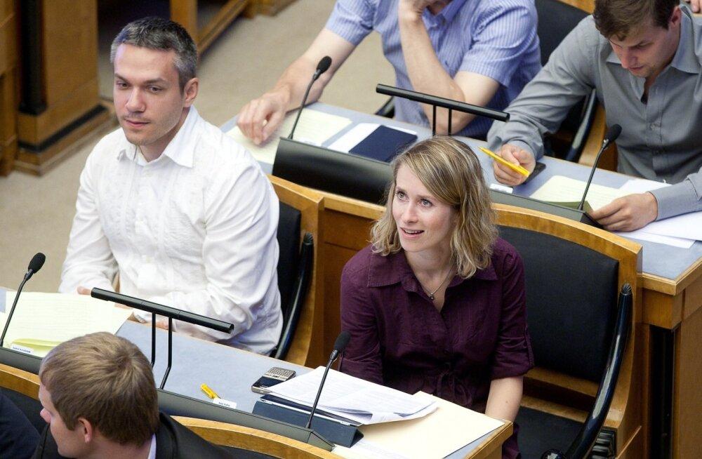 Andrei Korobeinik ja Kaja Kallas riigikogus