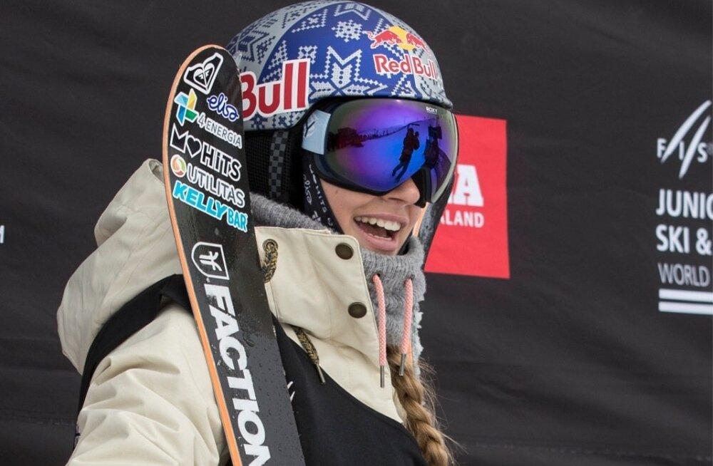 Kelly Sildaru sai rennisõidus tunda võidurõõmu.